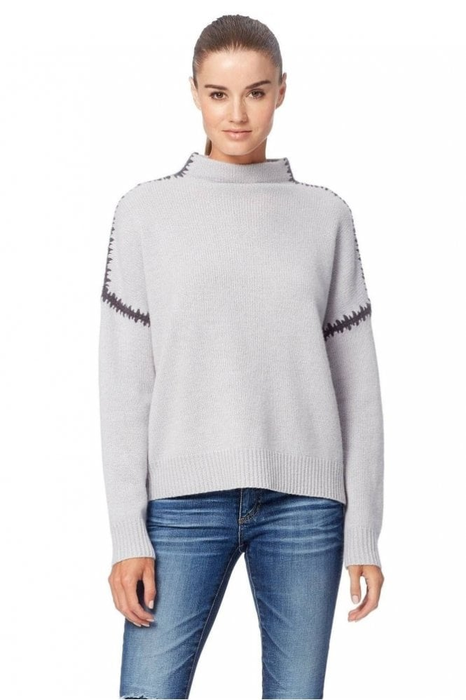 360 Cashmere Ava Sweater in Dove/Cement