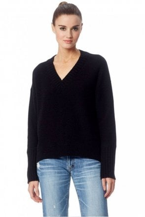 Eliza Cashmere Sweater in Black