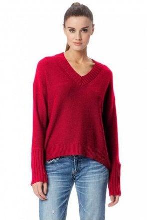 Eliza Cashmere Sweater in Magenta