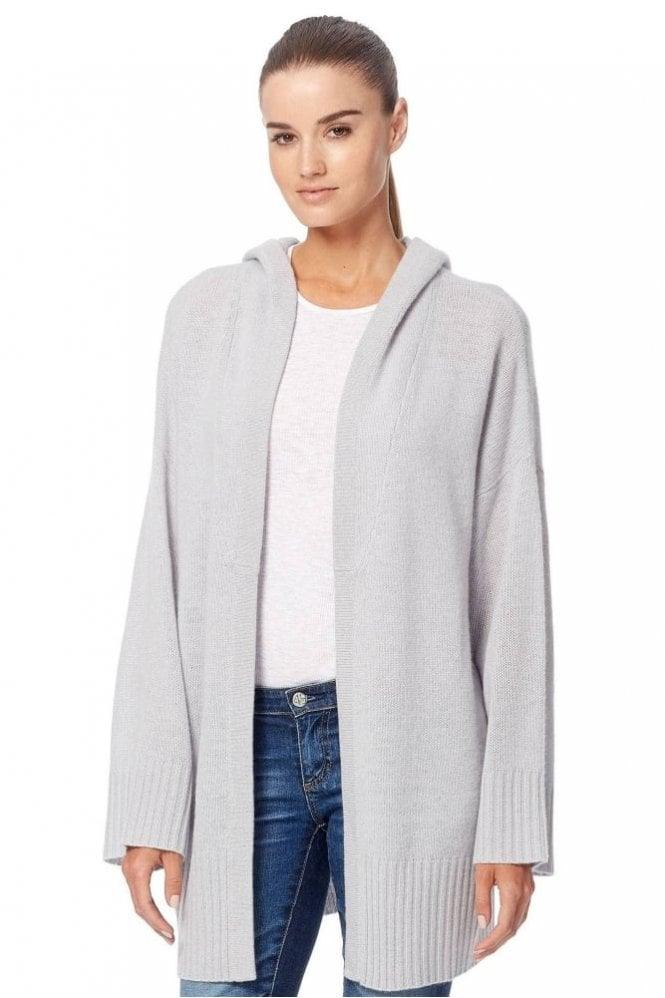 360 Cashmere Erin Hoodie Cardigan in Dove