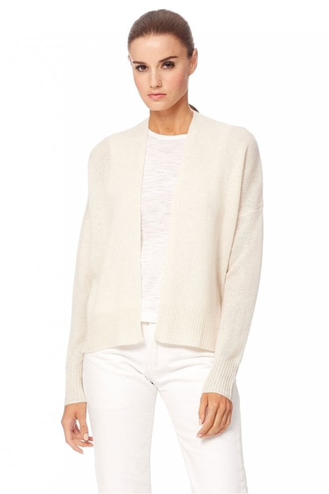360 Cashmere Florence Cashmere Cardigan in Chalk