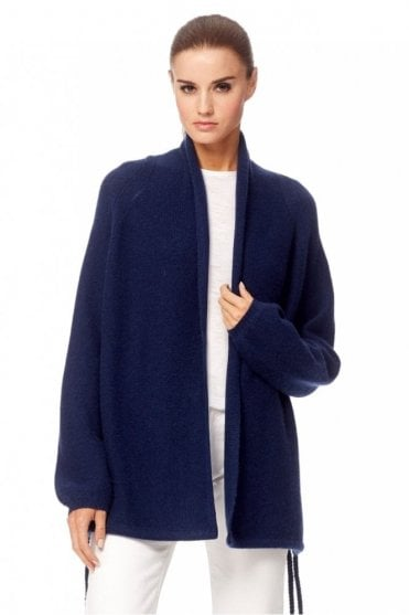 Ida Cashmere Cardigan in Navy