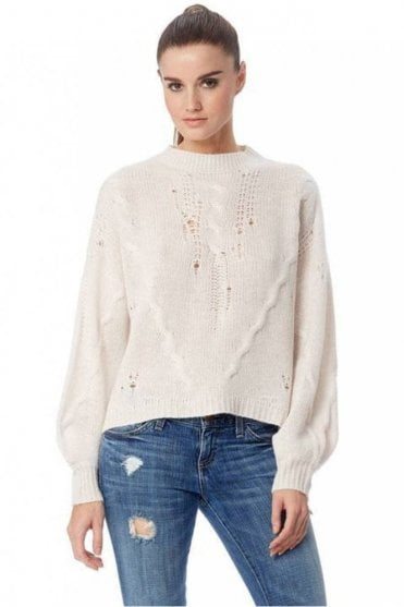 Lea Cashmere Sweater in Lunar