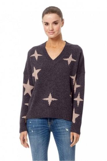Liliana Sweater in Cement/Rose Quartz