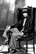 360 Cashmere Love Pom Beanie in Black/Chalk