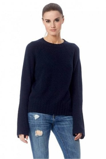 Maikee Cashmere Sweater in Navy