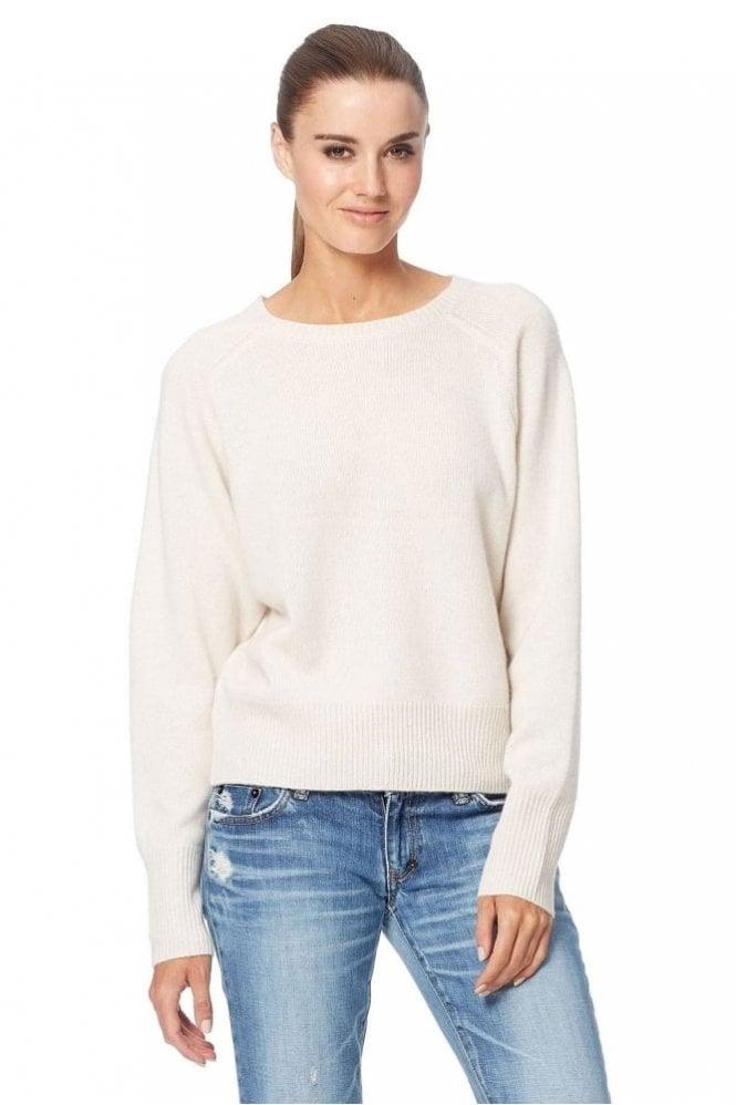 360 Cashmere Matcha Sweater in Chalk/Black