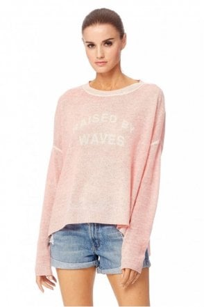 Raised By Waves Cashmere Sweater in Sunkissed/Chalk
