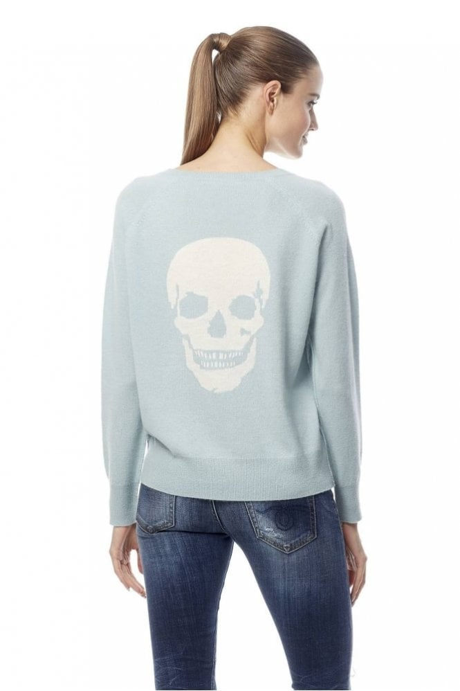 360 Sweater Amber Skull Intarsia Cashmere Sweater