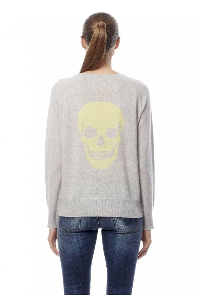 360 Cashmere Amber Skull Intarsia Cashmere Sweater