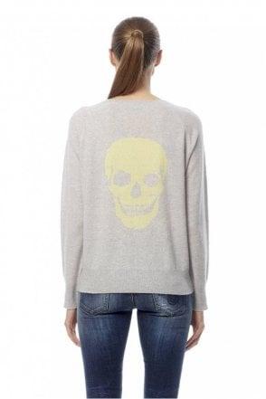 Amber Skull Intarsia Cashmere Sweater