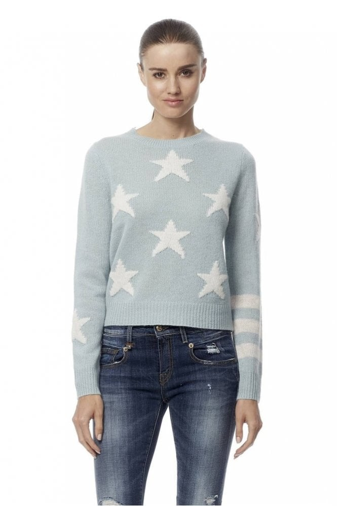 360 Sweater Embrey Star Intarsia Cropped Cashmere Sweater
