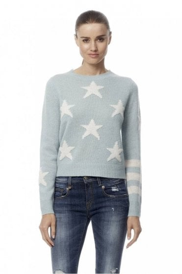 Embrey Star Intarsia Cropped Cashmere Sweater