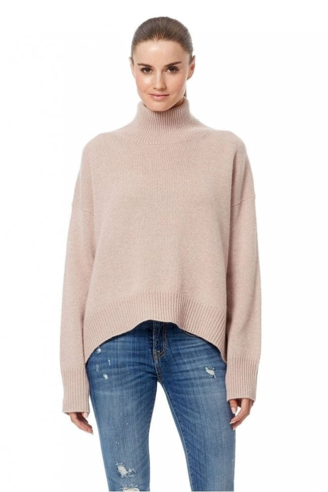 360 Cashmere Olive Sweater in Pink Quartz