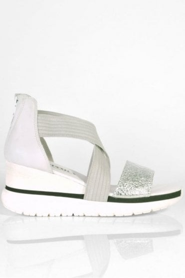 Wei Platform Wedge in Silver Candy