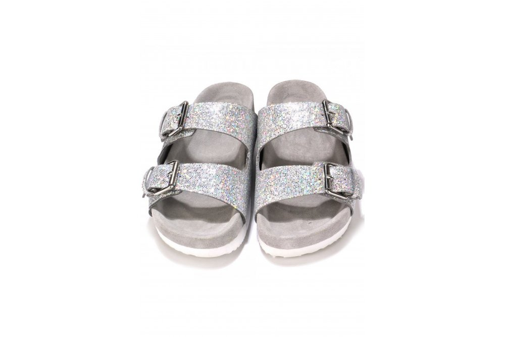 ash takoon buckle sandals silver multi glitter at sue parkinson. Black Bedroom Furniture Sets. Home Design Ideas