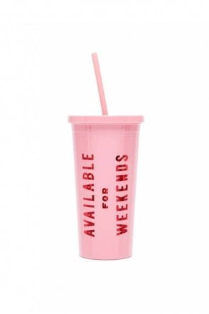 Sip Sip Tumbler with Straw – Available For Weekends