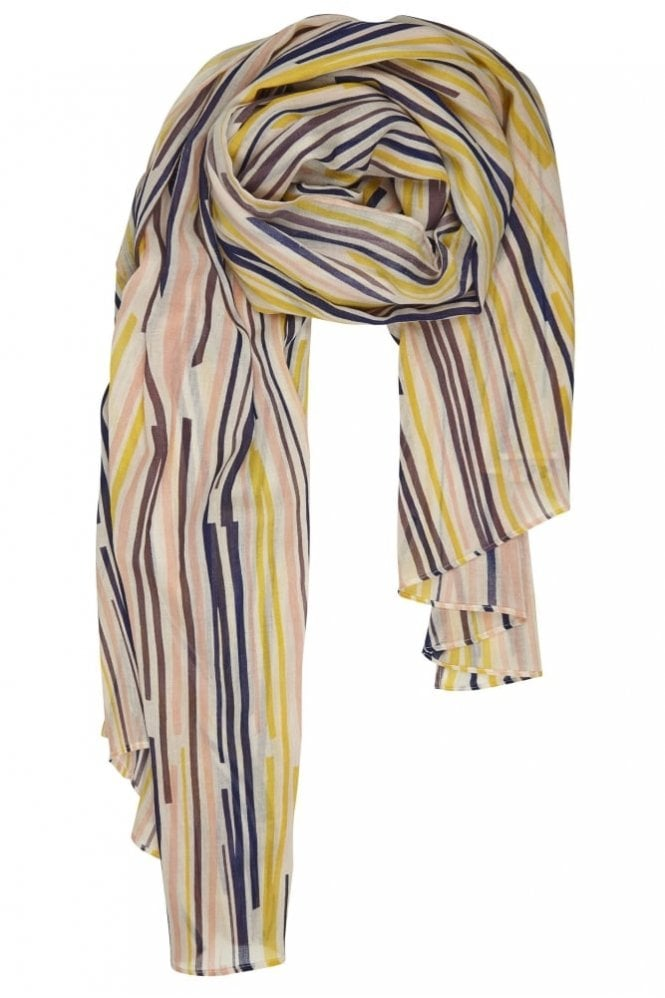 Bella Ballou Play It Again Cotton Scarf in Blue/Lime