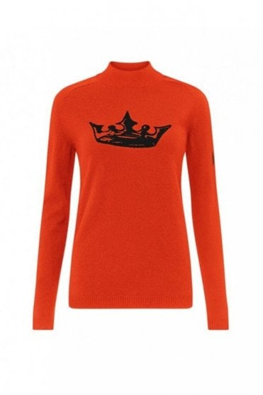 Crown Cashmere Jumper in Red