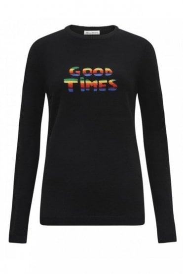 Sparkle Good Times Jumper in Black