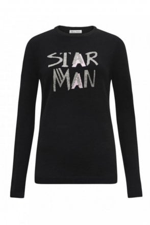Star Man Jumper in Black