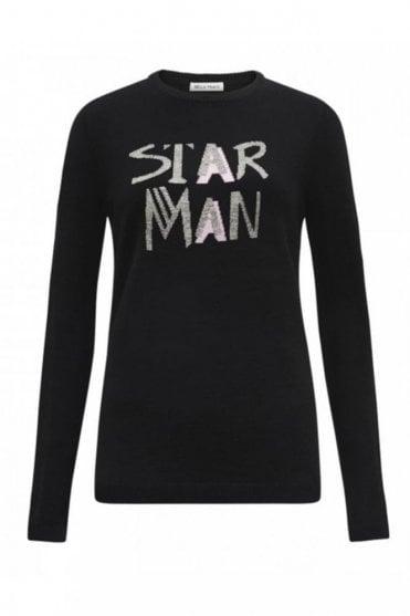 Star Man Jumper in Black