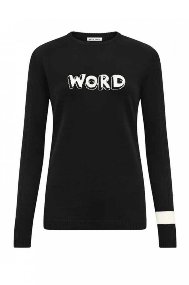 Bella Freud Word Jumper Black