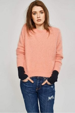 Dobra Knitted Sweater in Blush