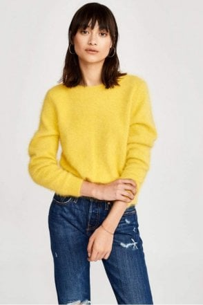 Dobra Knitted Sweater in Custard