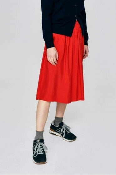 Hatch Skirt in Red