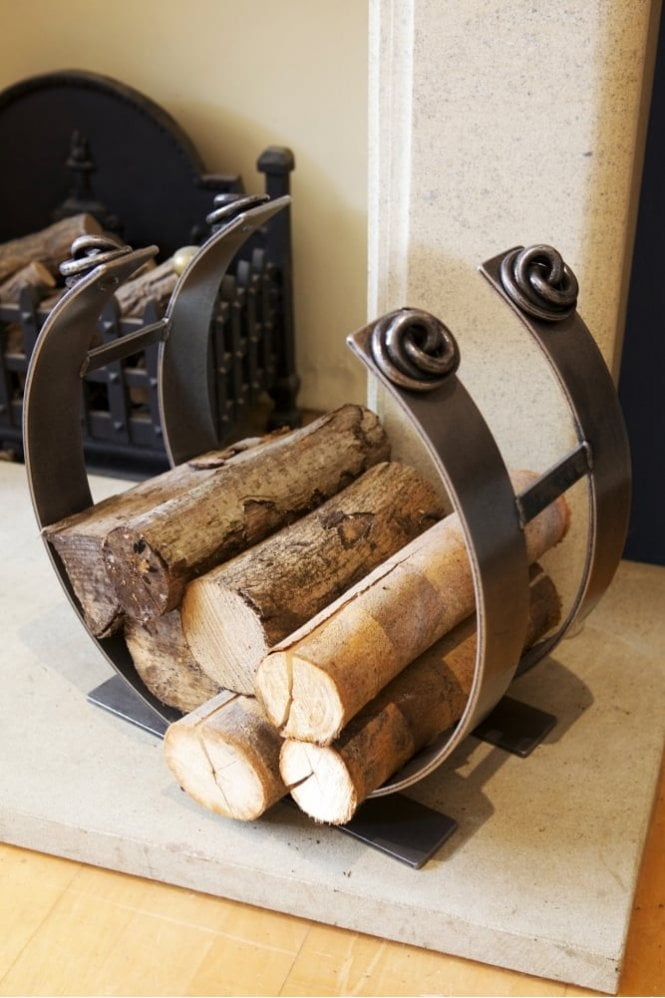 "Belltrees Forge Large 18"" Jacobean Log Ring"