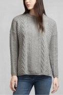 Belstaff Katriona Crewneck Sweater in Mid Grey