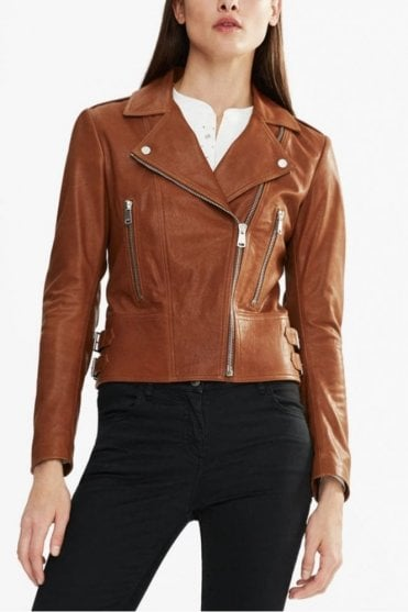 Marving-T Biker Jacket in Umber