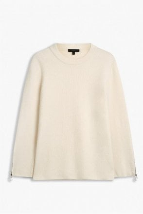 Shayla Wool Cashmere Knit in Natural