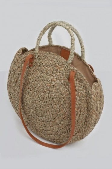 Corfu Circular Basket Bag