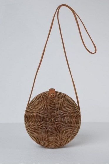 The Palermo Round Basket Bag