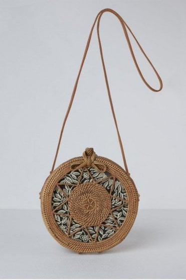 The Sicily Round Basket Bag