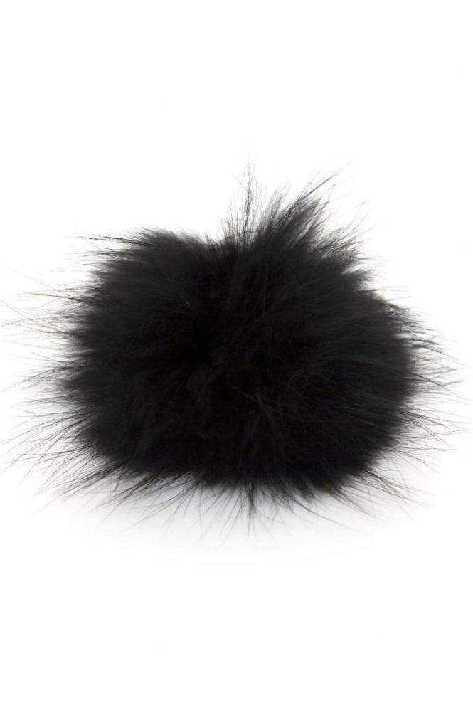 Bobbl. Big Bobbl Fur Pom Pom in Black