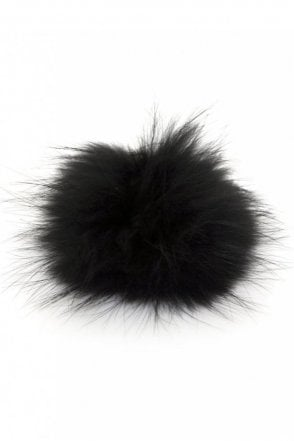 Big Bobbl Fur Pom Pom in Black