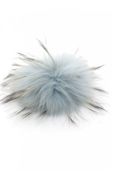 Big Bobbl Fur Pom Pom in Dusky Blue