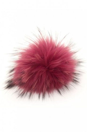 Big Bobbl Fur Pom Pom in Hot Pink