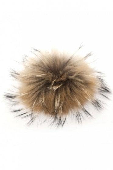 Big Bobbl Fur Pom Pom in Natural