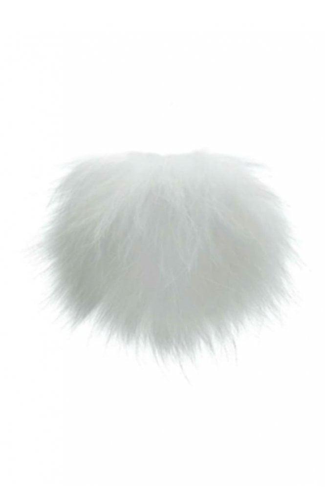 Bobbl. Big Bobbl Fur Pom Pom in White