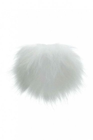 Big Bobbl Fur Pom Pom in White