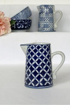 Blue & White Ceramic Small Jug