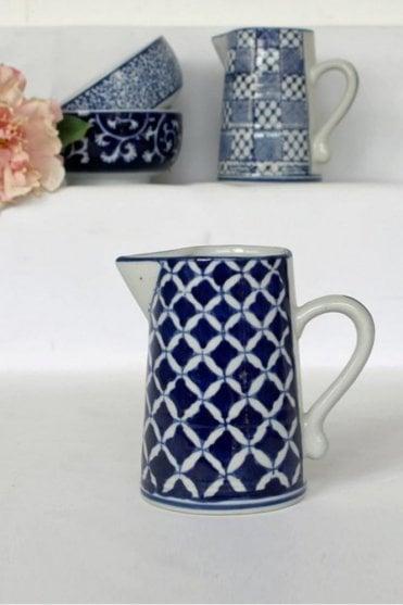 Blue & White Ceramic Small Jug