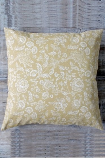 Harvest Gold Flower Cushion
