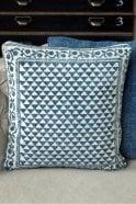 Biggie Best Hindi Indigo Block Print Cushion