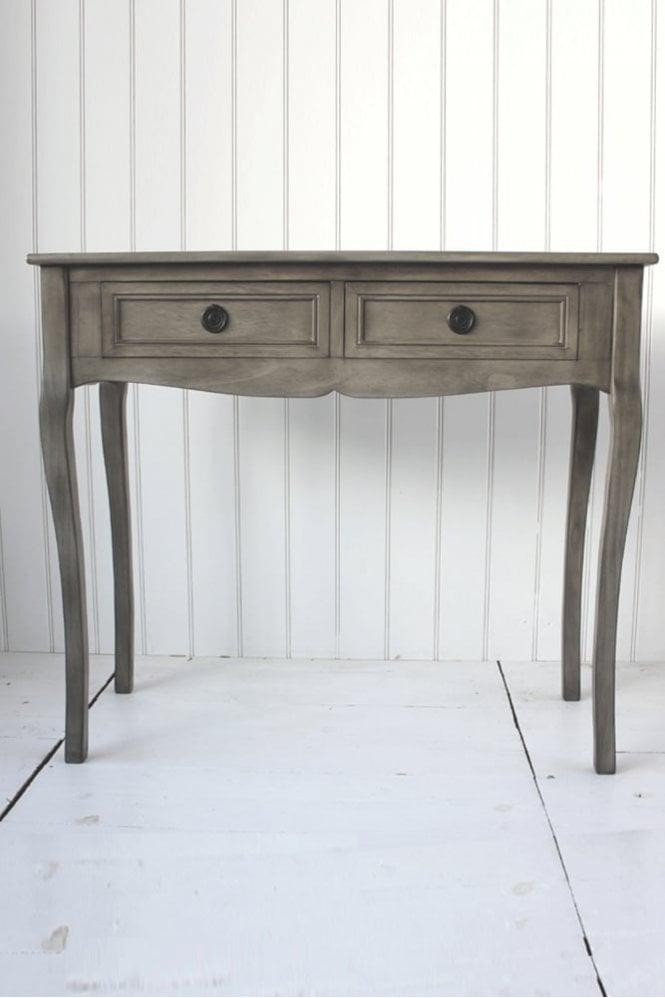Biggie Best Stone Grey Two Draw Table