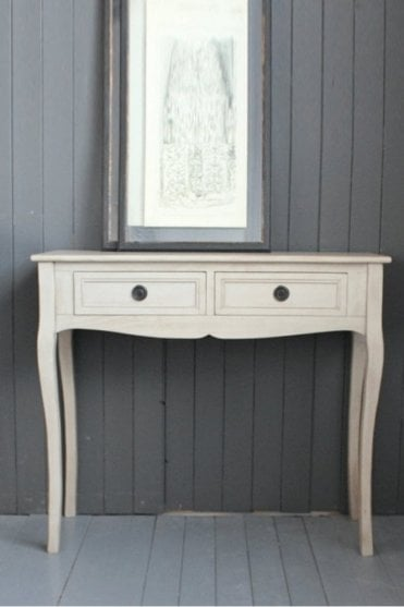 Swedish Grey Two Draw Table